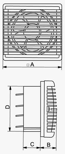 VVR változtatható forgásirányú ventilátor méretei